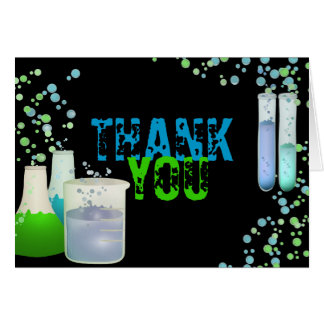 Science Lab Birthday Thank You Card