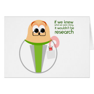 Science Lab Researcher Card Greeting Card