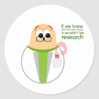 Science Lab Researcher Sticker