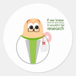 Science Lab Researcher Sticker Round Sticker