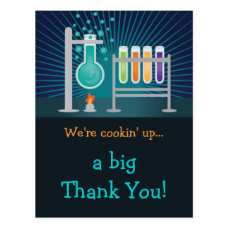 Science Laboratory Birthday Thank You Card Post Cards