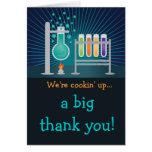 Science Laboratory Birthday Thank You Postcard Greeting Card
