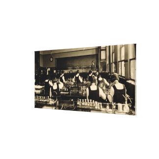 Science Lesson at the London Grammar School for Gi Canvas Print