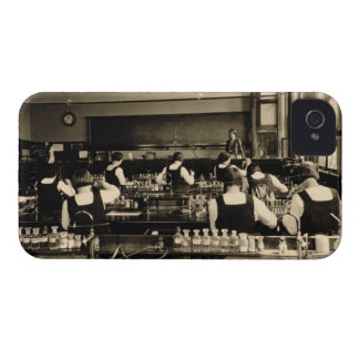 Science Lesson at the London Grammar School for Gi iPhone 4 Case