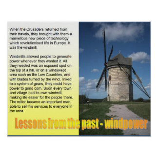 Science,Lessons from the past, Windpower Poster