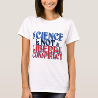 Science Liberal Conspiracy Red Blue T-Shirt