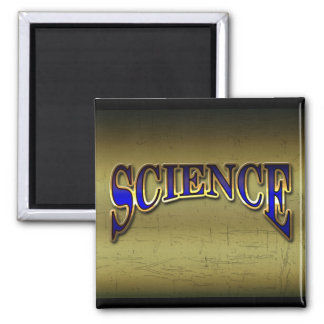 Science Magnet, scratched background 2 Inch Square Magnet