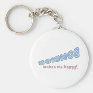 science makes me happy! keychain
