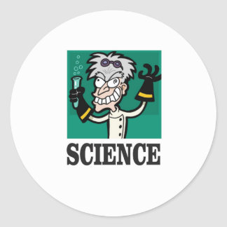 science man of the year classic round sticker