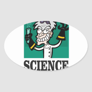 science man of the year oval sticker