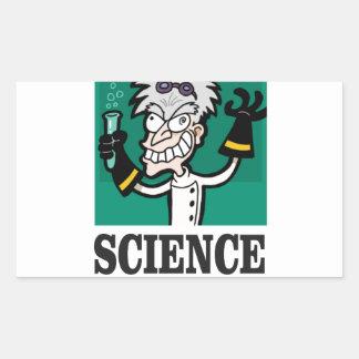 science man of the year rectangular sticker