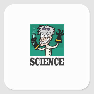 science man of the year square sticker