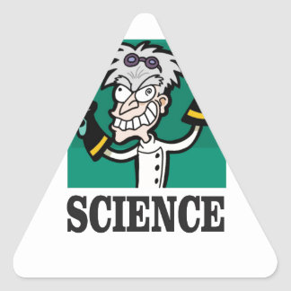 science man of the year triangle sticker