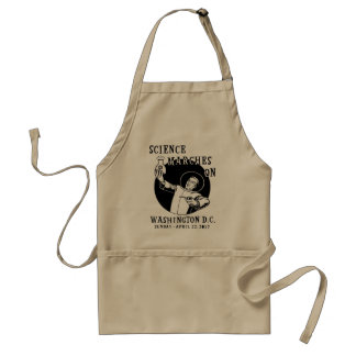 Science Marches On Adult Apron