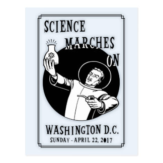 Science Marches On Postcard