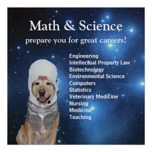 Science Math Cute Space Lab Stars Posters