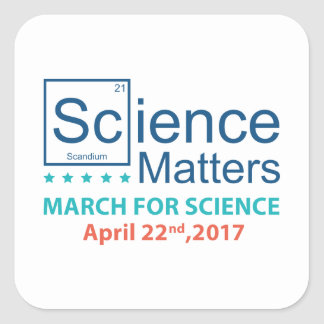 Science Matters Square Sticker