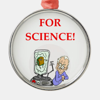 science metal ornament