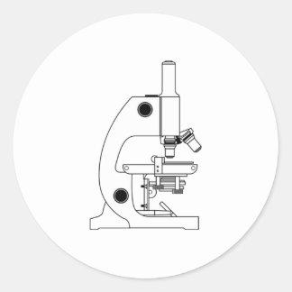 Science Microscope Classic Round Sticker