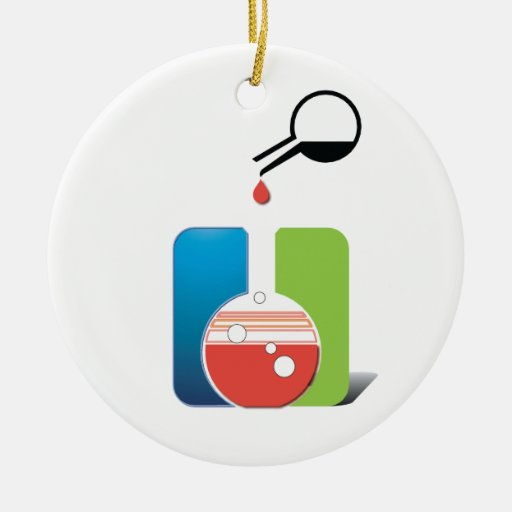 science - mixing chemicals ceramic ornament