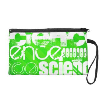 Science; Neon Green Stripes Wristlet Purse