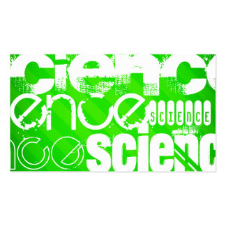 Science; Neon Green Stripes Business Card