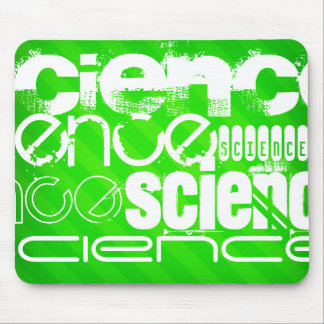 Science; Neon Green Stripes Mouse Pad