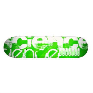 Science; Neon Green Stripes Skateboards