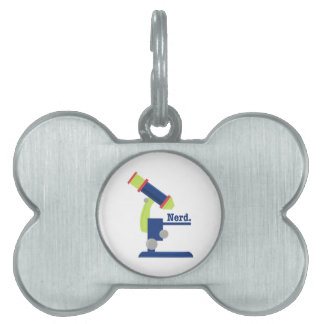 Science Nerd Pet Name Tags