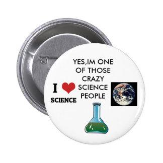 science nerd pinback button