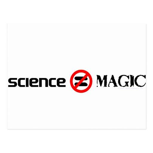 science not magic postcard