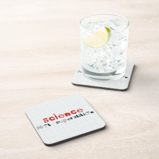 Science Not Superstition Drink Coaster