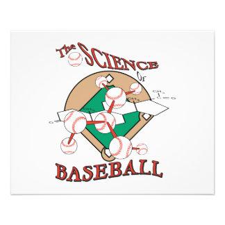 "science of baseball molecular graphic 4.5"" x 5.6"" flyer"