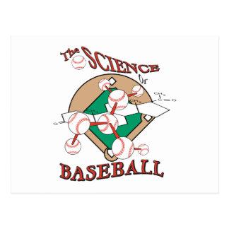 science of baseball molecular graphic postcard