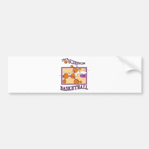 science of basketball car bumper sticker