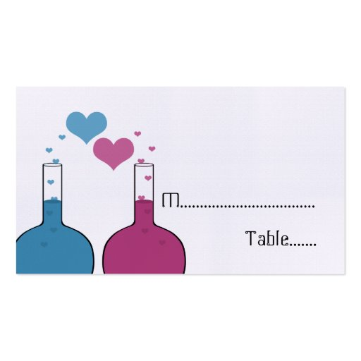Science of Love Place Cards Business Card Templates