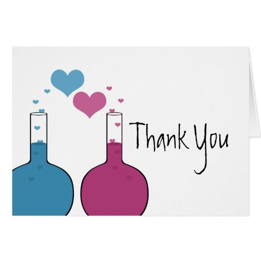 Science Of Love Thank You Card Zazzle