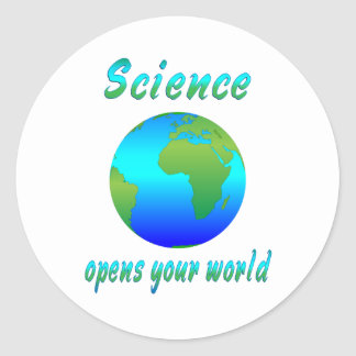 Science Opens Worlds Classic Round Sticker