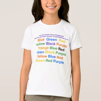 Science Optical Illusion Color Chart T-Shirt