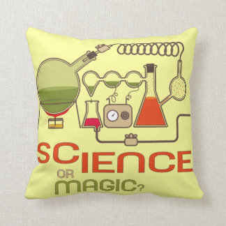 Science Or Magic Scientist Pillow