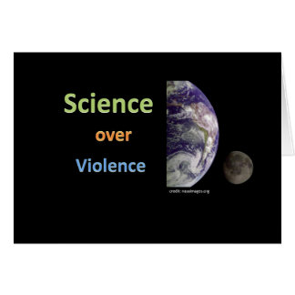 Science over Violence Greeting Card