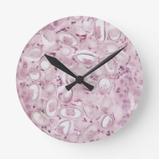 Science Parasite Round Clock