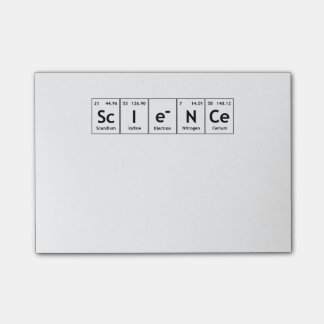 ScIeNCe Periodic Table Elements Word Chemistry Post-it Notes