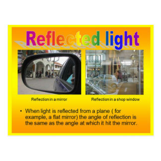 Science, Physics, reflected light Postcard
