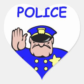 science police heart sticker
