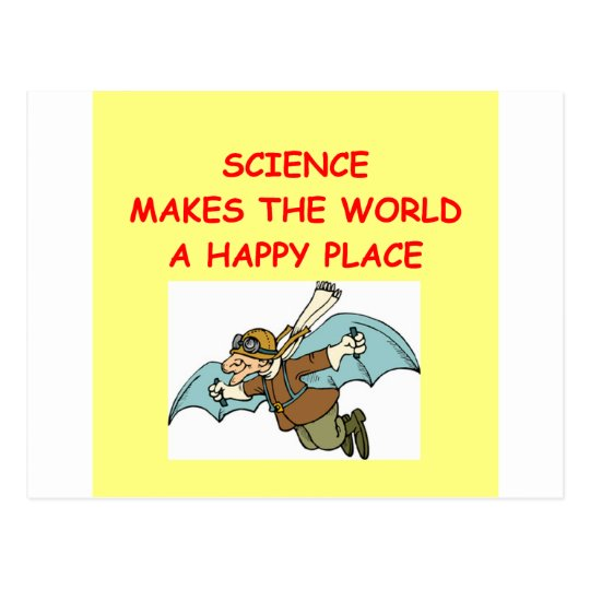 science postcard