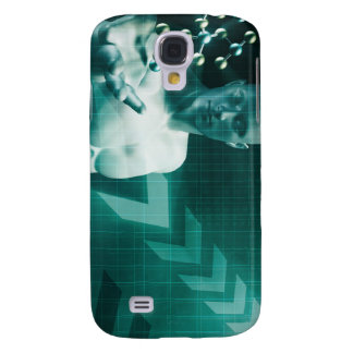 Science Professional Holding Molecule Structure in Galaxy S4 Cover