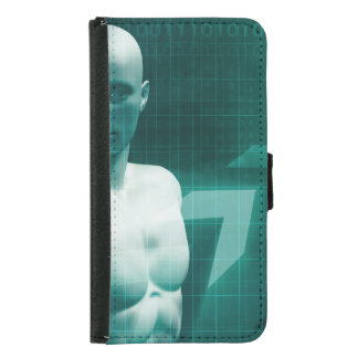 Science Professional Holding Molecule Structure in Wallet Phone Case For Samsung Galaxy S5