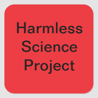 Science Project Sticker