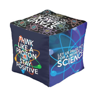 Science Quotes Cube Pouf